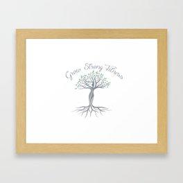 grow strong Framed Art Print