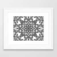 snowflake Framed Art Prints featuring Snowflake   by ArtLovePassion