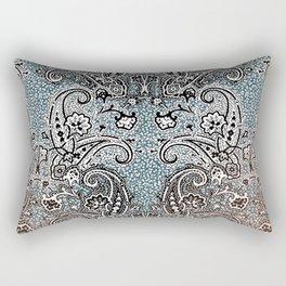 paisley on bluish grey texture Rectangular Pillow