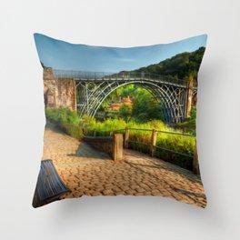 The Iron Bridge 1779 Throw Pillow