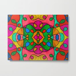 Abstract Doodle Pattern Metal Print