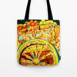 Sicily Italy Vintage Travel Ad Tote Bag