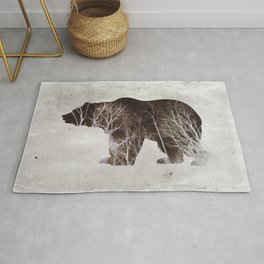 Bear in the Woods Rug
