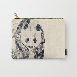 Tattooed Panda {cream} Carry-All Pouch