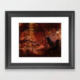 RAVENS WORLD edited Framed Art Print