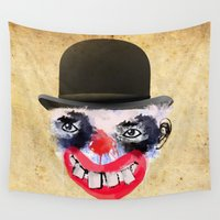 clown Wall Tapestries featuring Clown by Ahmet Hacıoğlu