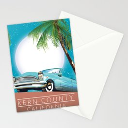Kern County California vintage style travel poster Stationery Cards