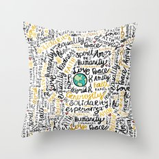 Positive Messages Throw Pillow