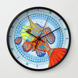 Fish Mandala Wall Clock