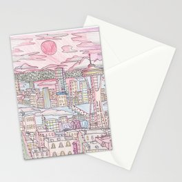 Seattle in Colored Pencil Stationery Cards