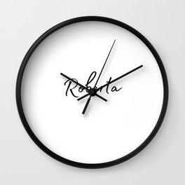 Roberta Calligraphy Wall Clock