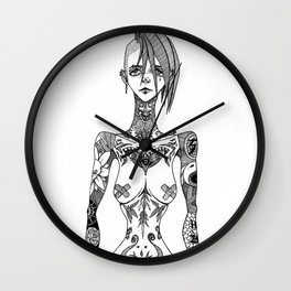 Tattoo girl Wall Clock