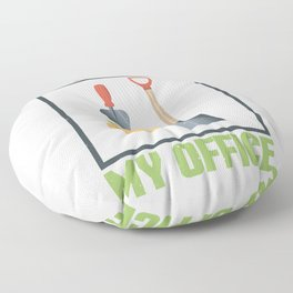 I'll Be In My Office Floor Pillow