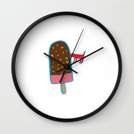 Chocolate ice-cream Wall Clock