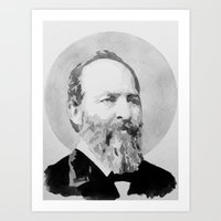 President Garfield Watercolor Art Print