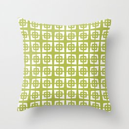 Mid Century Modern Pattern 271 Chartreuse Throw Pillow