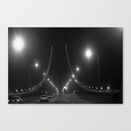 Late Nights on the Bay Bridge Canvas Print
