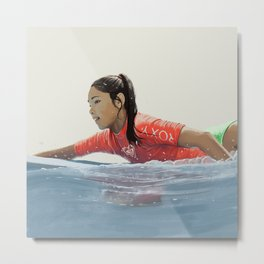 Roxy surf girl Metal Print