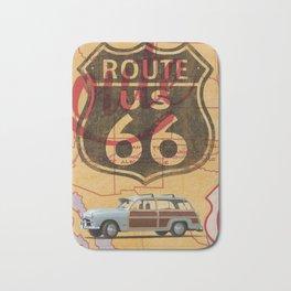 Route 66 Vintage Travel Poster Bath Mat