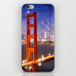 City Art Golden Gate Bridge Composing iPhone Skin