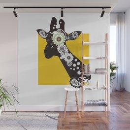Funky Cool Paisley Giraffe Wall Mural