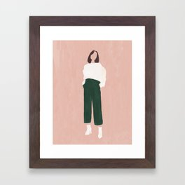 Pink + Green Framed Art Print