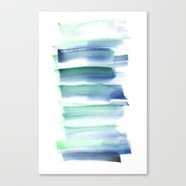 Frozen Summer Series 157  | Watercolor Paintings Easy Ideas Canvas Print