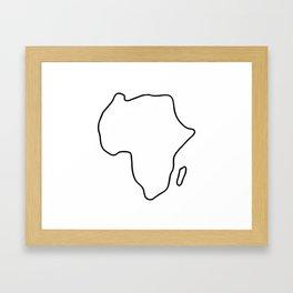 Africa African continent map Framed Art Print