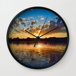"""Evening Reflections"" Wall Clock"