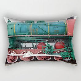 Railway locomotive, wagons in the train wagon Rectangular Pillow