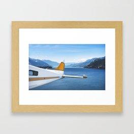 seaplane flying Framed Art Print