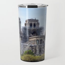 Notre Dame de Paris, the day after the fire Travel Mug