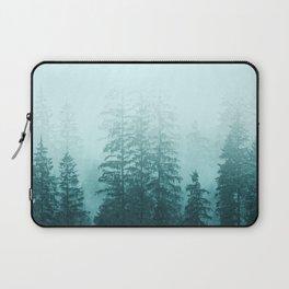 Blue Coniferous Forest Laptop Sleeve