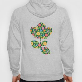 Spring Flower Scatter (on inky blue-green) Hoody