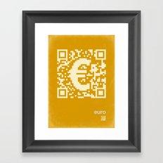 QR euro Framed Art Print