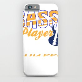 Bass Player Guitar Music Coffee Lover Vintage Gift iPhone Case