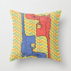 Bang! Bang! Throw Pillow