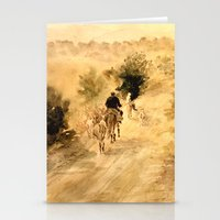 return Stationery Cards featuring Return Home by Vargamari