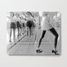 Tap Dancing Class, 1942. Vintage Photo Metal Print