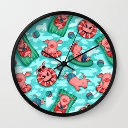 Summer Lovin' Pigs Wall Clock
