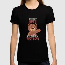 Sweet teddy bear as cuddly toy T-shirt