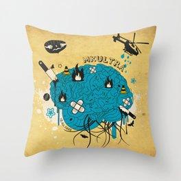 MKULTRA Throw Pillow