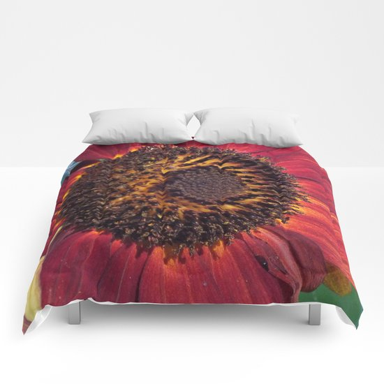 The Red Sunflower Comforters