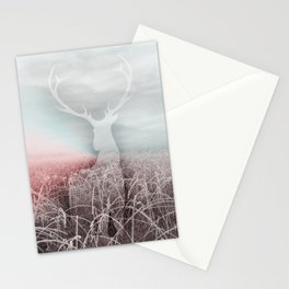 Frozen grass Stationery Cards