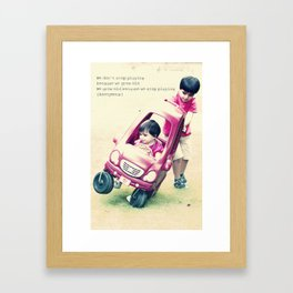 Children stuff Framed Art Print