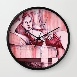 PINUP SERIE number 4 Wall Clock