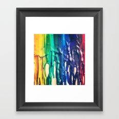 crayons Framed Art Print