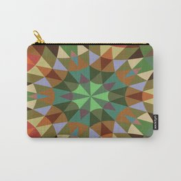 Earthy Retro Geometry Carry-All Pouch