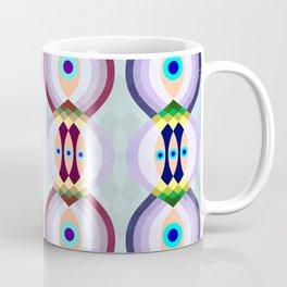 Peacock Tail Inspired Pattern Coffee Mug