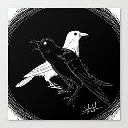 Twa Corbies Canvas Print